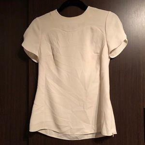 Ted Baker off white short sleeve blouse
